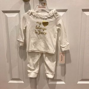 NWT Juicy Couture Girls Matching Set Pants And Top